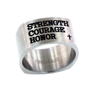 Strength Courage Honor Ring