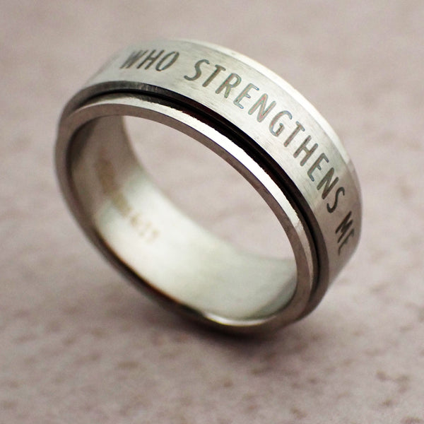 I Can Do All Things Spinner Ring
