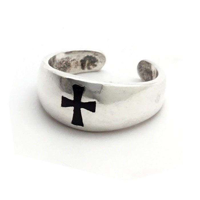 Black Cross Band Toe Ring