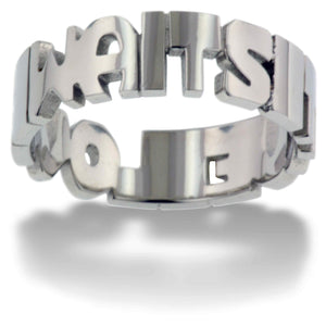 True Love Waits Text Ring