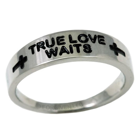True Love Waits Cross Ring
