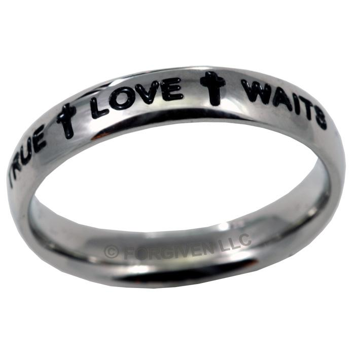 Double Cross True Love Waits Ring