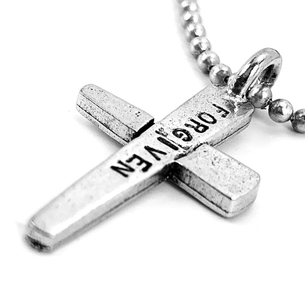 Forgiven Cross Ball Chain Necklace