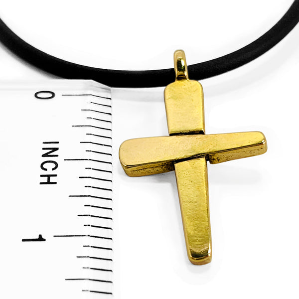Forgiven Cross Necklace Gold