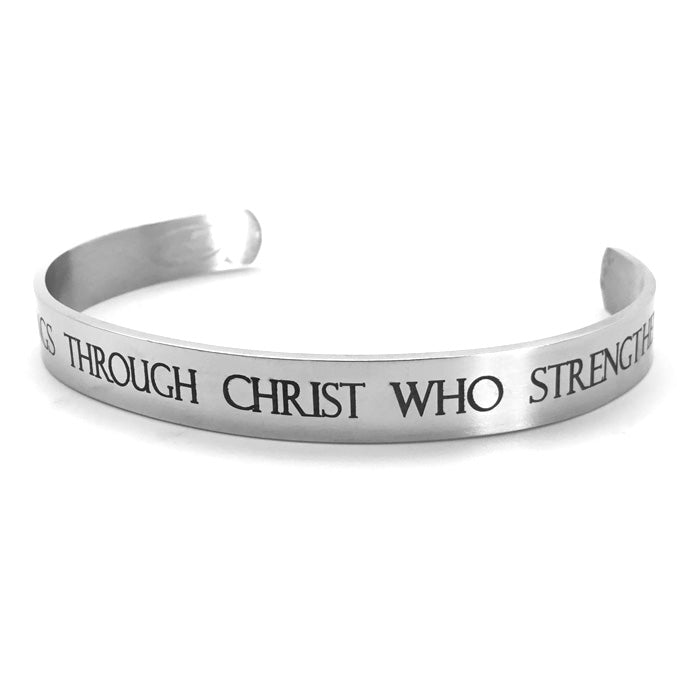 Phil 4:13 Stainless Steel Bracelet