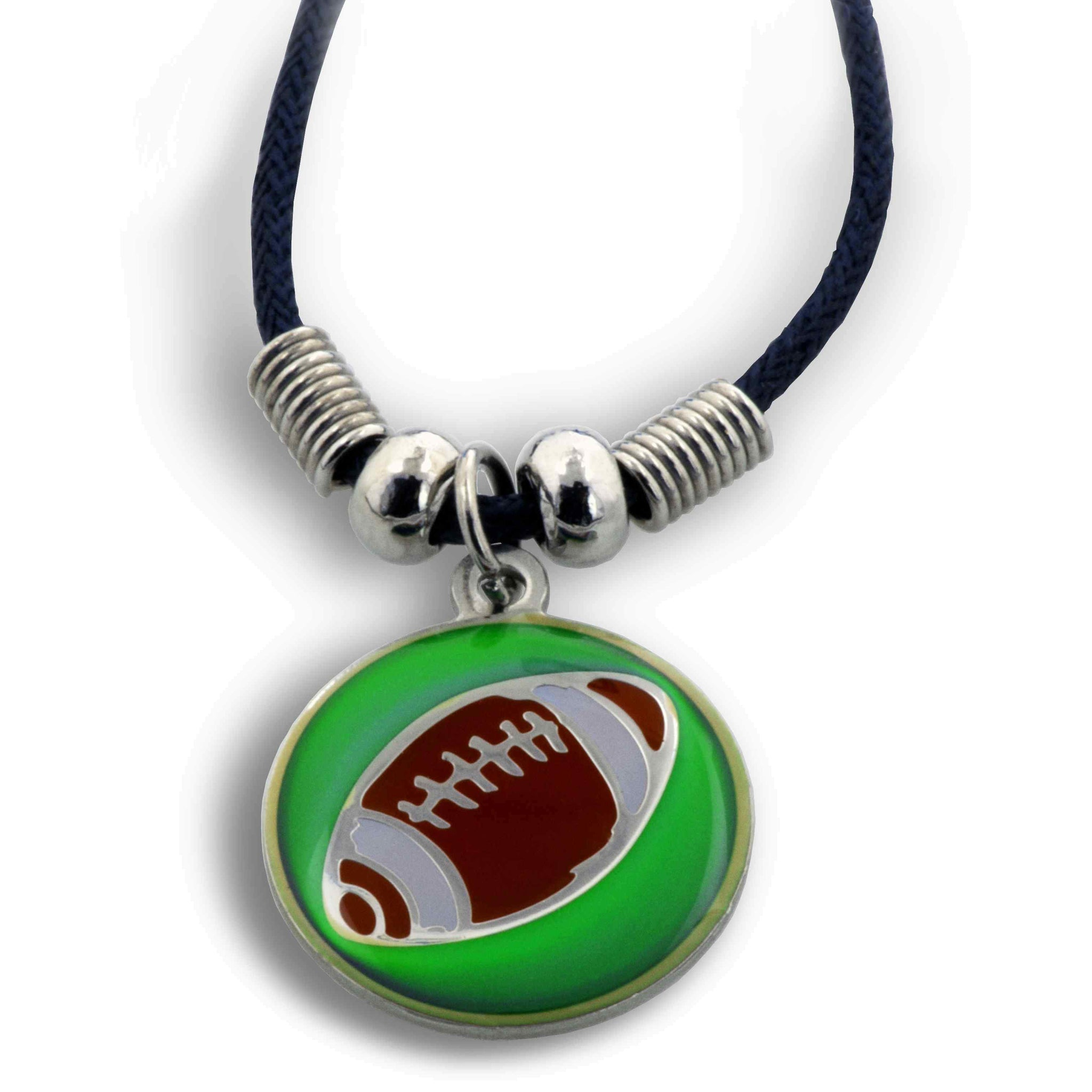 Phil 4:13 Football Mood Necklace