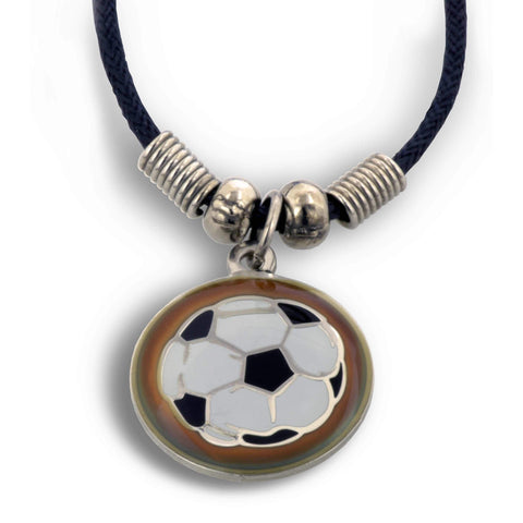 Phil 4:13 Soccer Mood Necklace