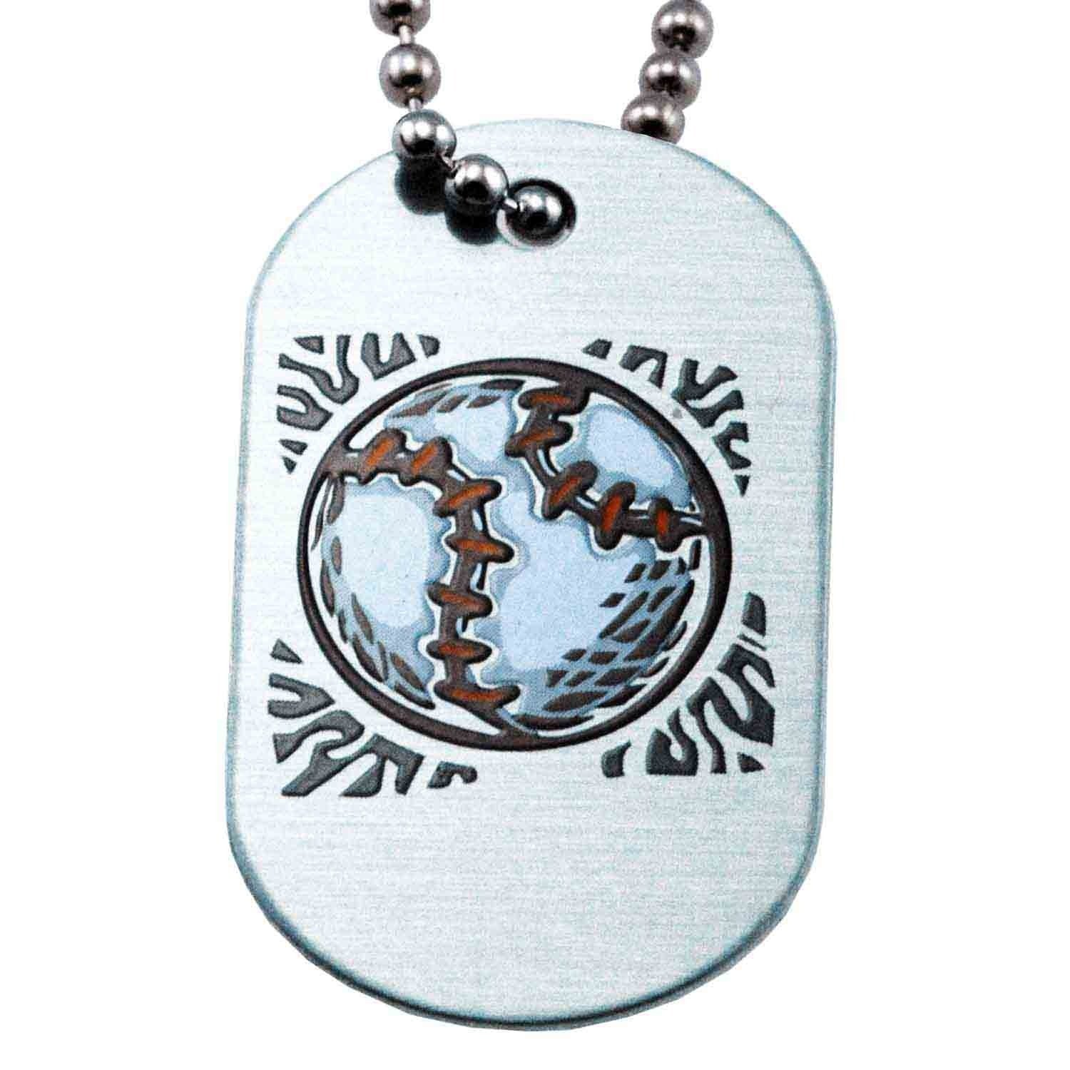 Phil 4:13 Softball Necklace Dog Tag