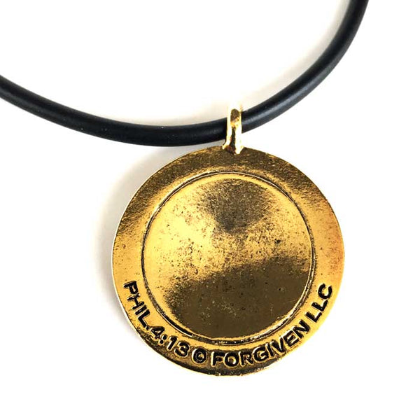 Baseball Necklace Phil 4:13 Gold