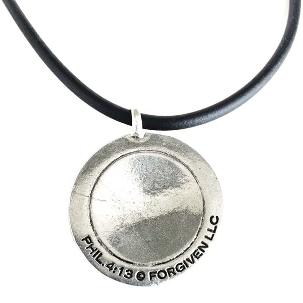 Baseball Necklace Phil 4:13 Silver