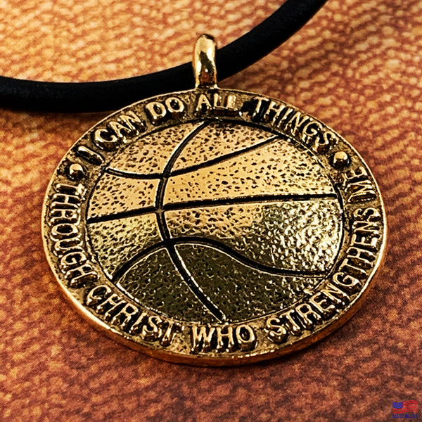 Basketball Antique Gold Necklace