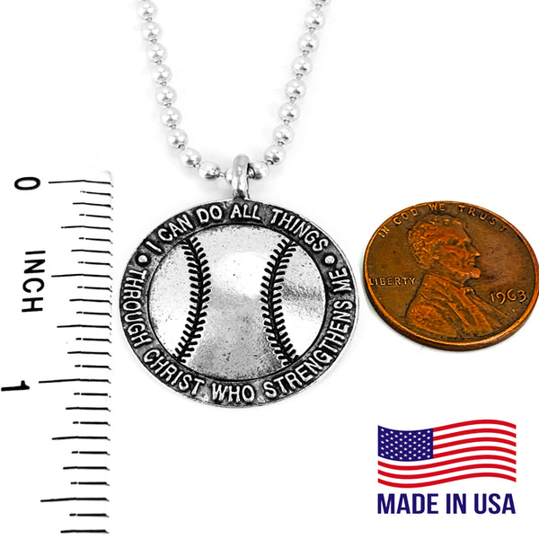 Baseball I Can Do Necklace