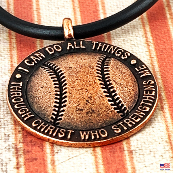 Baseball Necklace Copper