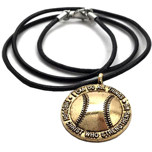Softball Gold Necklace