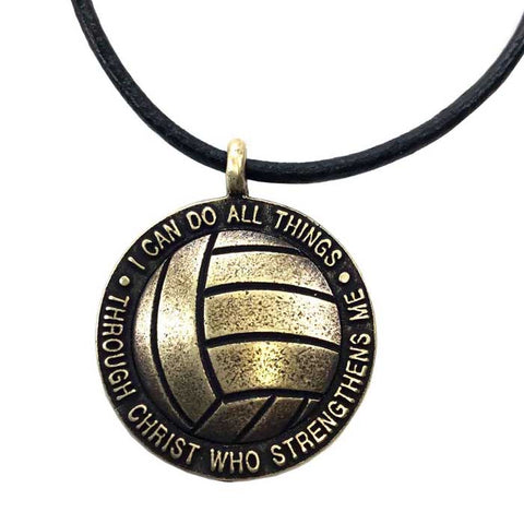 Volleyball necklace Brass