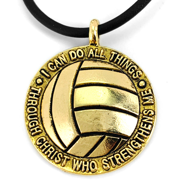Volleyball Gold Necklace