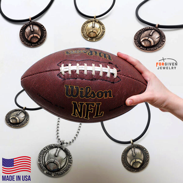 Football Necklace Pewter