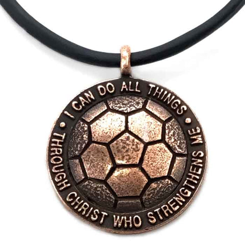 Soccer Necklace in Copper Made in the USA