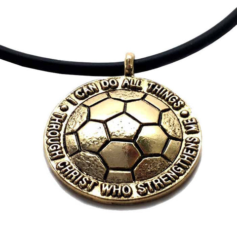 Soccer Necklace in Gold