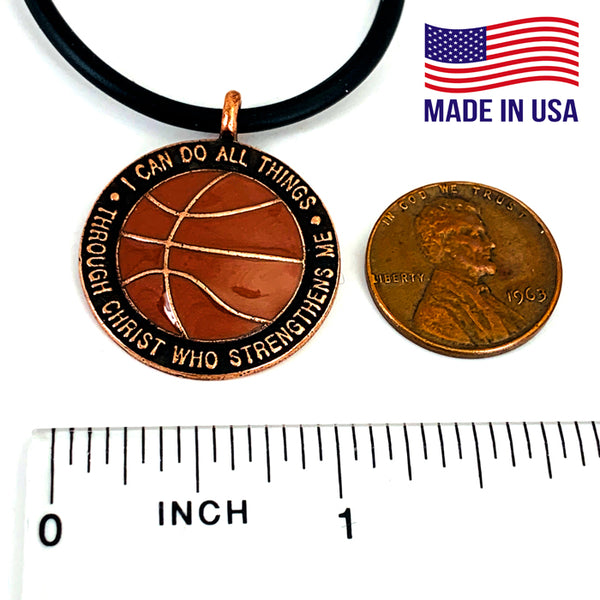 Basketball Antique Copper Choker