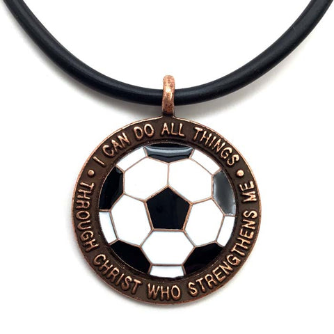 Soccer Medal in Copper Made In The USA