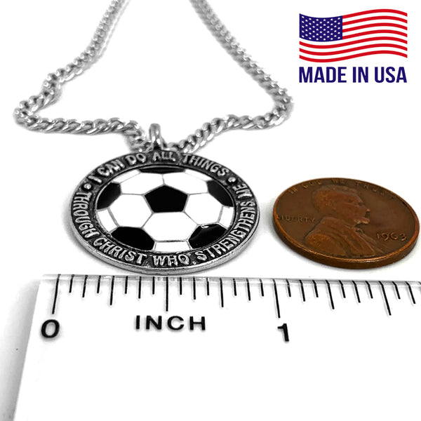 Soccer Phil 413 Necklace on 18 Inch Chain