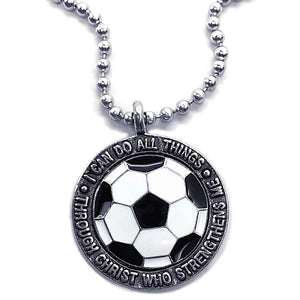 Phil 4:13 Soccer Necklace Made In The USA