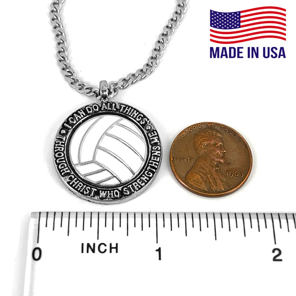 Volleyball Phil 413 Necklace on 18 Inch Chain