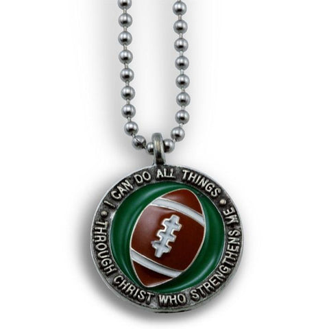 Phil 4:13 Football Necklace