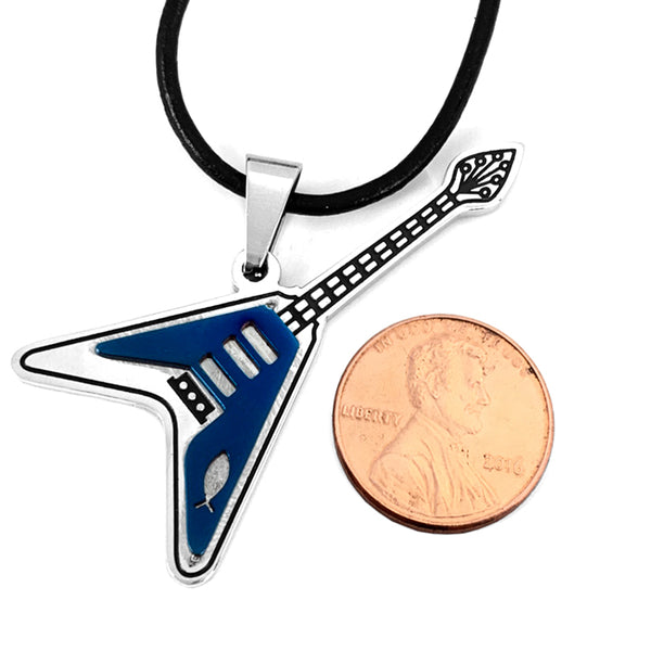 Jesus Fish Guitar Necklace