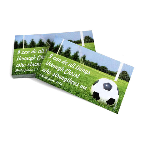 Soccer Phil 413 I Can Do All Things Through Christ Inspirational Pocket Card
