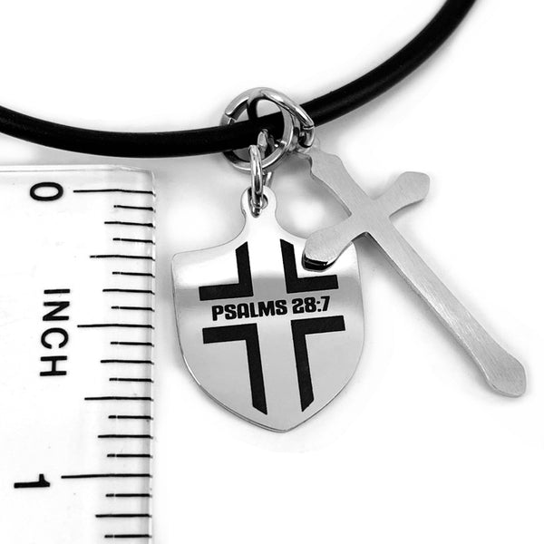 Shield with Cross Necklace