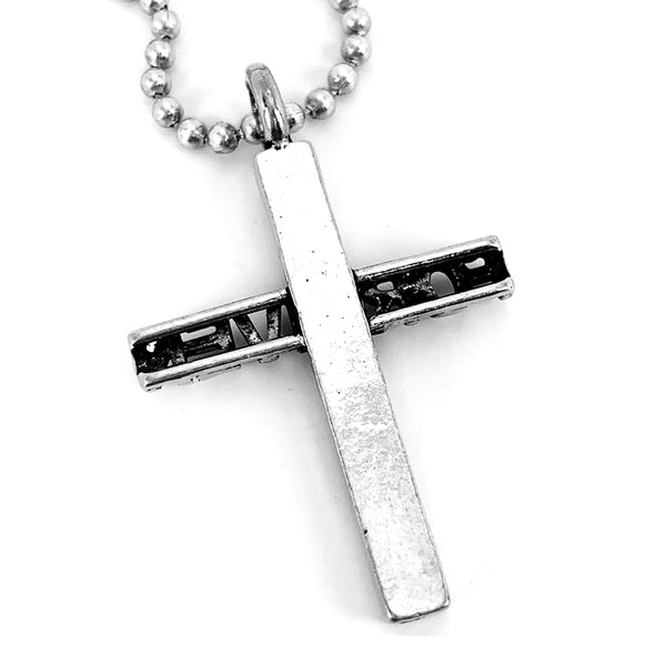 Forgiven Cross Pewter on Ball Chain