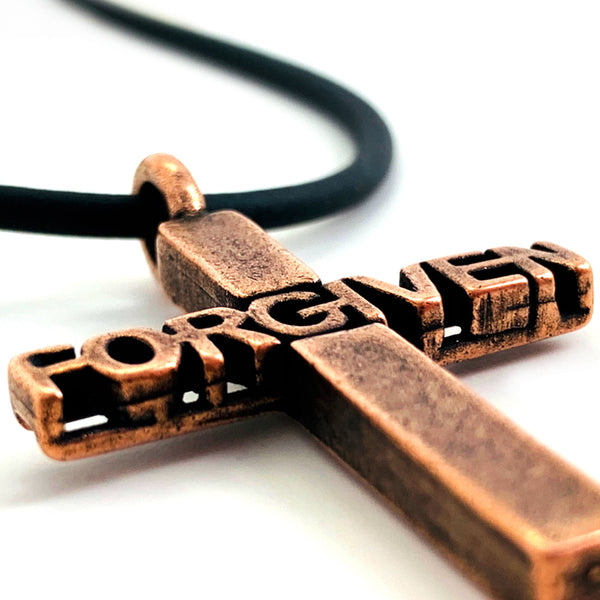 Forgiven Cross Copper Necklace