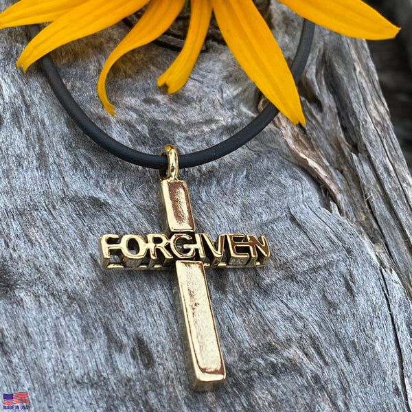 Forgiven Cross Gold Necklace