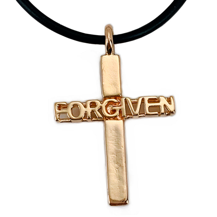 Forgiven Cross Rose Gold Necklace