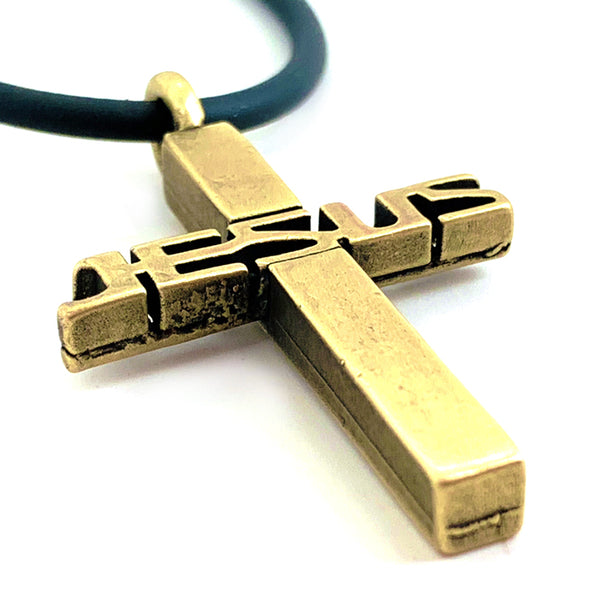 Jesus Cross Brass Necklace