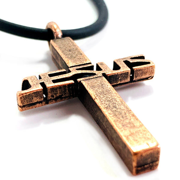Jesus Cross Copper Necklace