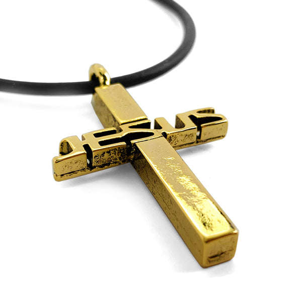 Jesus Cross Gold Necklace