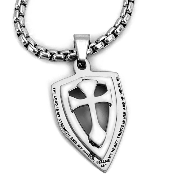 Cross Strength Shield On Heavy Chain