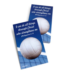 Volleyball Phil 413 I Can Do All Things Through Christ Inspirational Pocket Card