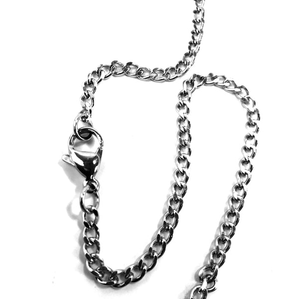 Football Necklace Pewter On Chain