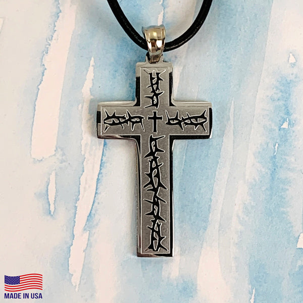Thorns Cross Necklace