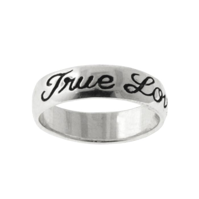 True Love Waits Sterling Silver Cursive Ring