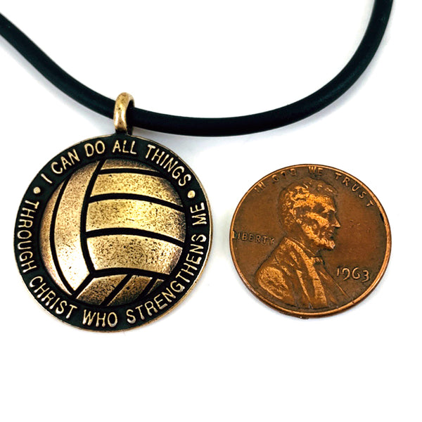 Volleyball Brass Necklace