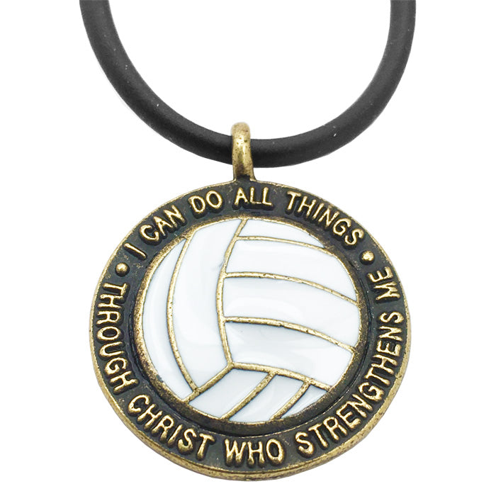 Volleyball Phil 413 Necklace Antique Brass