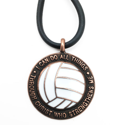 Volleyball Phil 413 Necklace Copper