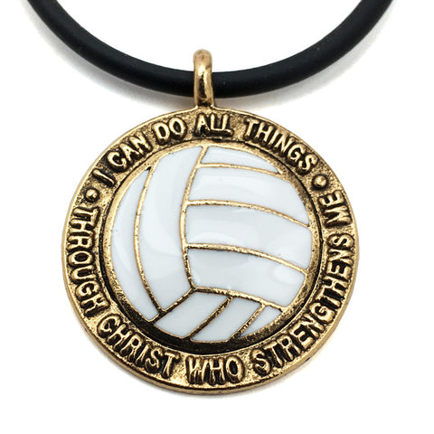 Volleyball Phil 413 Necklace Antique Gold