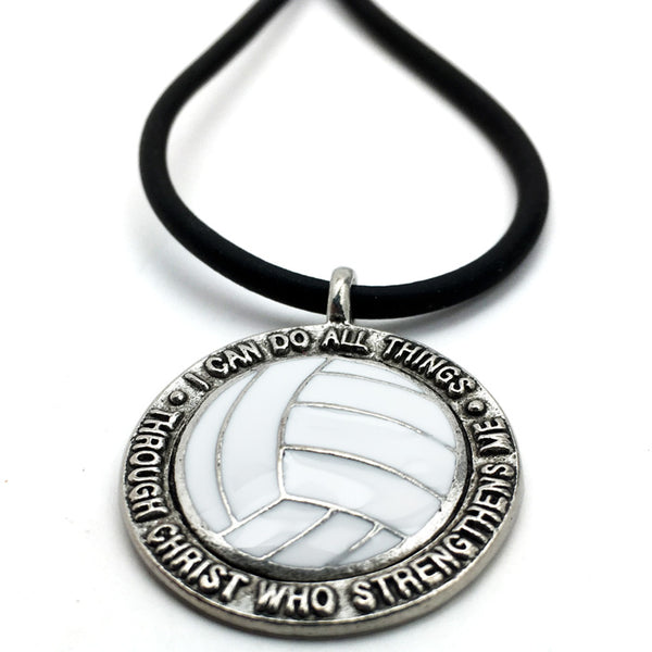 Volleyball Phil 413 Necklace Antique Pewter