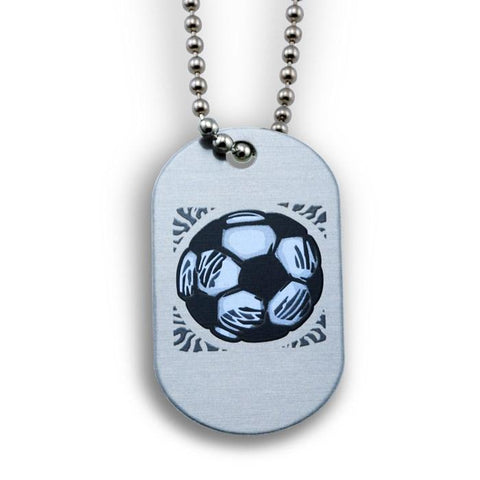 Phil 4:13 Soccer Dog Tag Necklace
